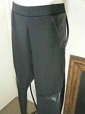 MUSKA INK LADIES BLACK LEATHER PATCHED JODHPUR PANTS SIZE 14 & 16 BNWT $45.00