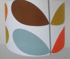 """ORLA KIELY 2 band STEM FABRIC 12"""" 14"""" 16"""" ready made OR make your own LAMPSHADE"""