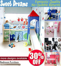Cabin bed, mid sleeper,Choice of colour,slide and midsleeper accessories BARGAIN