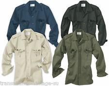 SURPLUS MENS LONG SLEEVED TACTICAL ARMY SECURITY WORK SHIRT COMBAT PATROL S-XXL