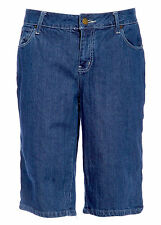 Hint Blue Ladies HINT Cropped Jeans Designer Knee Length Pants All Plus Sizes