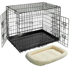 Dog Rabbit Cat Cages/Crate/Carrier & Bed S M L XL XXL Puppy Pet Training Cage
