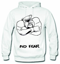 "No Fear ""The Big Dog"" Unisex Hoodie Men's Women's Weight training Body building"