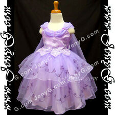 #SP11 Flower Girl/Holiday/Formal/Party/Birthday Princess Dress Purple 0-4 Years