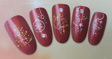 Glittering Christmas Nail Art  Decals Sticker For Natural/False Nails