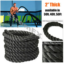 """2"""" Battle Rope Poly Dacron Undulation Rope Exercise Fitness 30ft, 40ft, 50ft"""