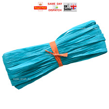 Raffia Paper Gifts Ribbon Decorating Scrapbooks TURQUOISE 2m 10m 20m 100m CHEAP