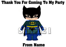10 SUPERHERO Thank You Stickers / Sticky Labels for Party Bags etc Ref 101