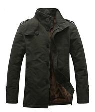 New Hot Men's Slim jackets Stand-up collar jacket thick plus velvet trench coat