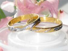 MENS OR WOMENS 2TONE 18KT GOLD PLATED WEDDING RING WEDDING BAND 3MM YGB62