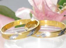 MENS OR WOMENS 2TONE 18KT GOLD PLATED WEDDING RING WEDDING BAND 3MM YGB63