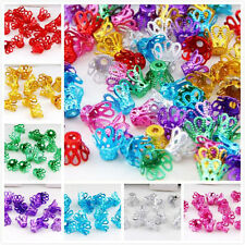 7Colors-1 Or Mixed Aluminum Flower Bead Caps Findings 8x6.5mm Hole:2mm
