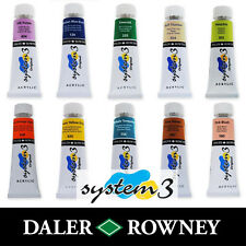 Daler Rowney System 3 Original Acrylic Paint 75ml Tubes   All Colours Available