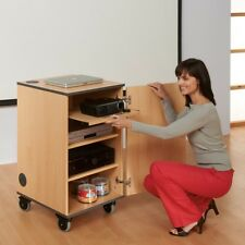 Low Cost Multimedia Mobile Lockable Cabinet - Great for projectors - Fully Built