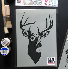 stag stencil deer stags head reusable Home Wall Decor Paint Ideal Stencils