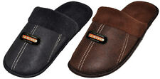 MEN'S HOUSE SLIPPERS - BLACK OR BROWN COLORS -  INDOOR HOUSE SLIP ONS -1515