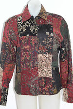 Chico's beautiful fall color jacket blazer size 0 (womens 4) patchwork w/beading