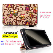 """Canvas Case for Samsung Galaxy Tab 3 7"""" 8"""" 10.1"""" Tablet Cute Owl Smart Cover"""
