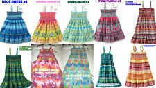 * NEW GIRLS Squeeze Convertible SMOCKED SUMMER Dress 4 6x 7 8 10 12 14 16