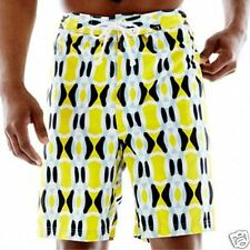 Men's TailorByrd Patterned Swim Trunks- Big & Tall Yellow Abstract New MSRP $50