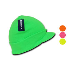 1 Dozen New Neon GI Jeep Cap Hat Beanie Beanies Knit Visor Ski Winter Wholesale