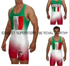 Italian singlet, custom text included, no minimums, wrestling and powerlifting