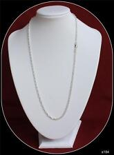 Sterling Silver Chain 20inch long 2mm wide link Prince of Wales Rope