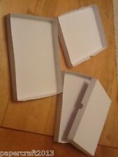 A6. WHITE GIFT GREETING CARD/postal boxes 300gm no glueing self assembly