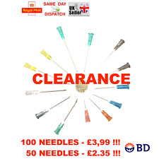 50x 100x BD Sterile Needles MULTI AUCTION 18G - 26G Refill Ink CHEAPEST
