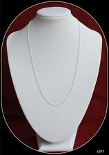 Sterling Silver Chain 20inch long 1.4mm wide Singapore Rope