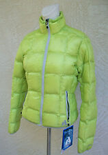New Eddie Bauer First Ascent Womens Downlight Jacket Coat Citrus Yellow NWT Down