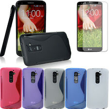 S-LINE GEL TPU SKIN+SCREEN PROTECTOR Case cover for LG Optimus G2 D802 D801