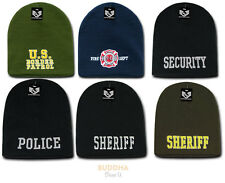 US Law Enforcement Military Short Beanie Beanies Knit Caps Cap Hats Hat Winter