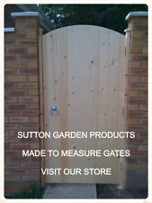 MADE TO MEASURE WOODEN GARDEN GATE HEAVY DUTY T & G V GROOVE 1.8m HIGH