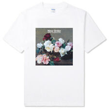 NEW ORDER-power corruption and lies rock band indie Unisex white t-shirt