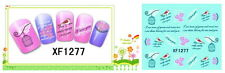 water decal nail art faux ongles XF 1277 gel uv résine vernis cage oiseau I.L.Y