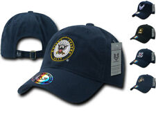 US Military Air Force Army CG Marines Navy Washed Cotton Polo Hats Caps Hat Cap