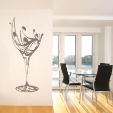 WINE KITCHEN wall sticker stylish glass decor transfer decal art vinyl quote