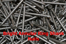 1 kg, BRIGHT ANNULAR RING SHANK NAIL PICK YOUR SIZE 1000g Trade-Fixings Direct