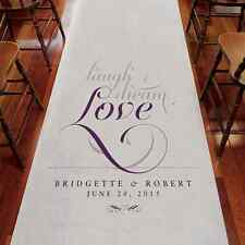 "Personalized Expressions Wedding Aisle Runner - Non-Woven Fabric 39"" x 75 Feet"