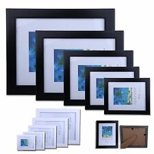 Picture Photo Frames Modern Black White Frame Mounts 5 Sizes Available