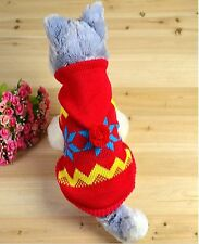5 size pet dog cat clothing sweater appreal Dog Clothes Winter Jumper with caps