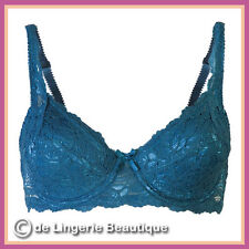 Underwired Teal Lace Padded Bra 34B - 40D by Daniel Axel