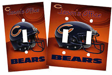 PERSONALIZED CHICAGO BEARS FOOTBALL LIGHT SWITCH PLATE COVER