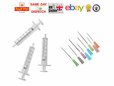 20x 5ml Syringes + 20x Needles (13 Sizes) STERILE BLUE INK FAST DISPATCH CHEAP