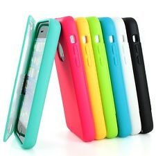 For iPhone 5C C Colorful TPU Wrap Up Case Cover w/ Built in Screen Protector
