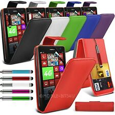 PU Leather Flip Case Cover ,Retractable Stylus & Film Fits Various Mobile Phones