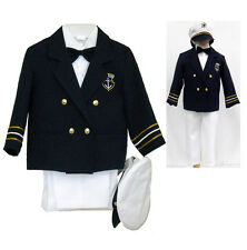 New Baby Boy Infant Easter Formal Party Captain Suit Outfit sz: New Born to 4T