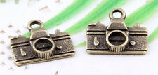 Wholesale 25/58Pcs Bronze Plated (Lead-Free)Camera Charms Pendant 15x14mm
