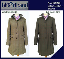 NEW BLUE RIBAND LADIES LONG LINE MIXED TWEED COAT JACKET EQUESTRIAN RIDING